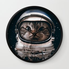 Space catet Wall Clock