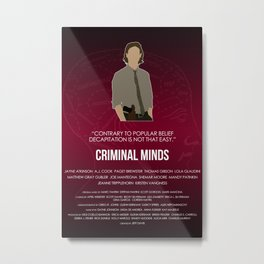 Criminal Minds - Reid Metal Print