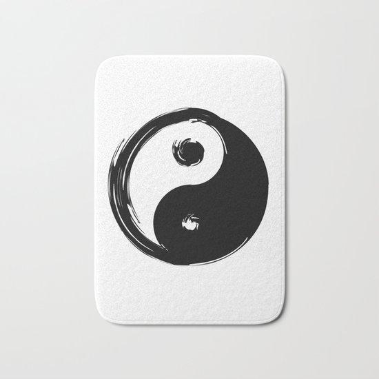 Yin Yang Symbol Bath Mat