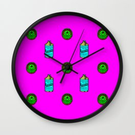 Retro Pattern Clean Wall Clock
