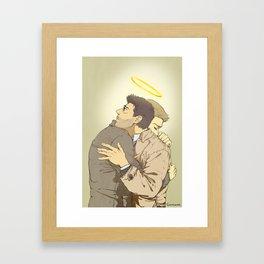a tight hug Framed Art Print