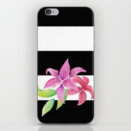 Stripes & Flowers iPhone Skin