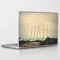 boats Laptop & iPad Skins featuring Boats by Kiera Wilson