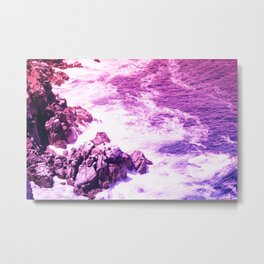 Beautiful Purple Oceanside Cliffs Metal Print