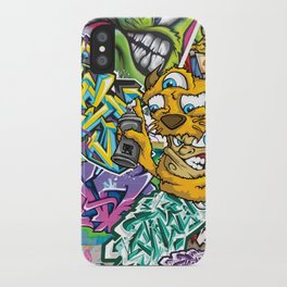 PAGER Collage Royal Stain iPhone Case