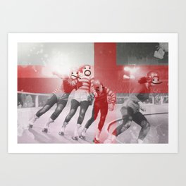 Punchtuation Roller Derby Art Print