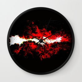 "Original Painting Abstract Art ""A supernova"" Wall Clock"