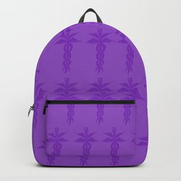 Medical ID Print (Purple) Backpack