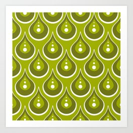 drops pattern Art Print