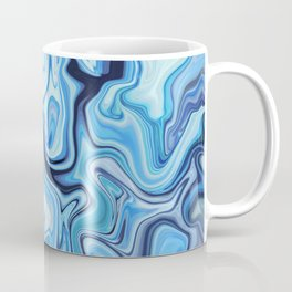 Marbled Frenzy Electric Blue Coffee Mug