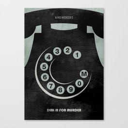 Dial M For Murder - Minimal Canvas Print