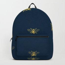 French Bee Pattern Rucksack