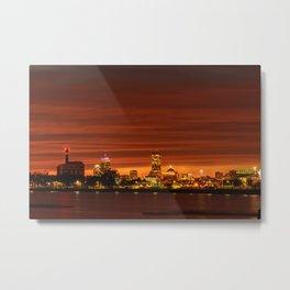 Boston, Christmas night - Sun-dusk Metal Print