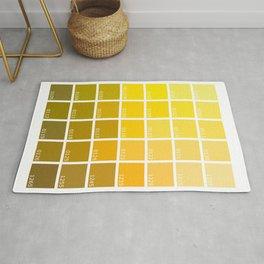 Shades of Yellow Pantone Rug