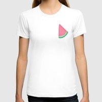 watermelon T-shirts featuring WATERMELON by Greenteaelf