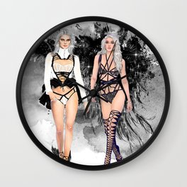 Dark Angels Wall Clock