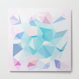 Geo Crystals - Pastel Metal Print