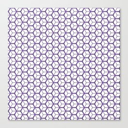 Cubed Pantone Purple Pattern Canvas Print
