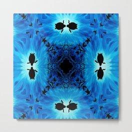 Sea Turtle in the deep blue Metal Print