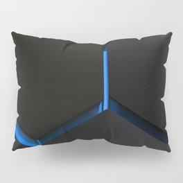Futuristic hexagons on blue backlight Pillow Sham