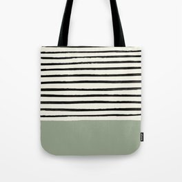Sage Green x Stripes Tote Bag