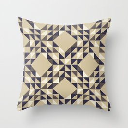 On Neutral Ground - Triangle Pattern Throw Pillow
