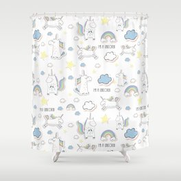 I am a Unicorn Shower Curtain