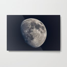 Moon - Waxing Gibbous Moon with Visible Craters Metal Print