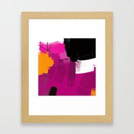 Purple abstract painting F06 pink black orange Digital painting Framed Art Print