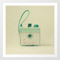 mint Art Prints featuring Mint by Cassia Beck