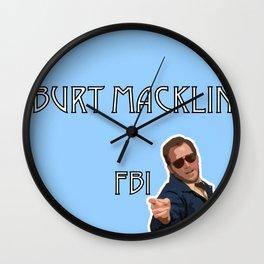 Burt Macklin FBI Wall Clock