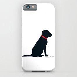 Modern Black Lab Silhouette iPhone Case