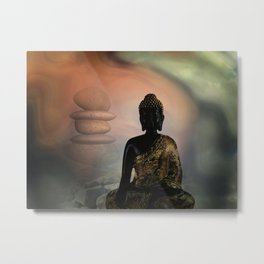 silence and wellness Metal Print