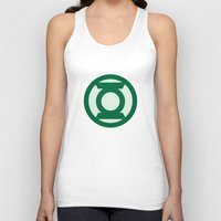green lantern Tank Tops featuring Green Lantern by DeBUM