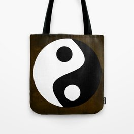 Yin and Yang - Brown Tote Bag