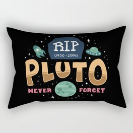 Rip Pluto Never Forget - No Gravity Funeral Funny Illustration Rectangular Pillow