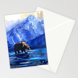 """Blue Bear"" Original, art, Bear Lover, bear art, bear painting, brown bear, nature, wildlife love... Stationery Cards"