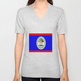 Flag of Belize Unisex V-Neck