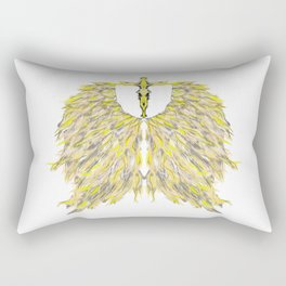 Cross with Angel wings Rectangular Pillow