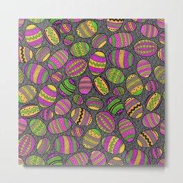 A Basketfull of Painted Eggs Metal Print