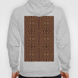 Fancy Tribal Pattern,brown Hoody