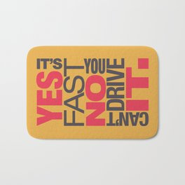 Yes it's fast No you can't drive it v1 HQvector Bath Mat