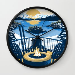 Lake tahoe California vintage travel poster Wall Clock