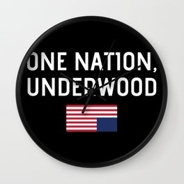 One Nation Underwood Wall Clock