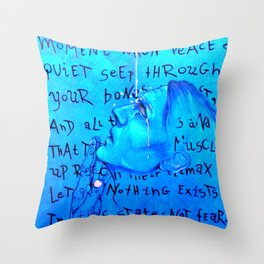 exhaustion Throw Pillow