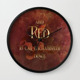 And RED to call enchantment down. Shadowhunter Children's Rhyme. Wall Clock