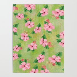 Tropical Flowers Malaysian Inspired Print Poster