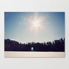 ice+snow+sunshine Canvas Print