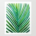 Bold Palm Leaf Watercolor by kristiangallagher