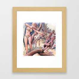 Warrior woman Framed Art Print